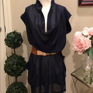 Armani Exchange Navy Blue Dress